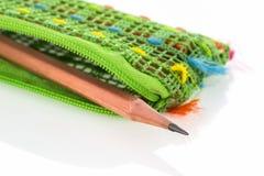 Bolsa del lápiz Imagen de archivo libre de regalías