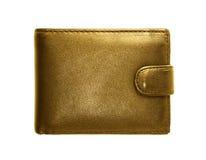Bolsa do ouro em um fundo branco Imagem de Stock