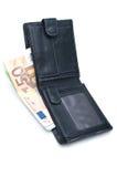 Bolsa e dinheiro Fotografia de Stock Royalty Free