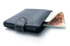 Bolsa e dinheiro Fotos de Stock