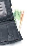 Bolsa e dinheiro Foto de Stock Royalty Free