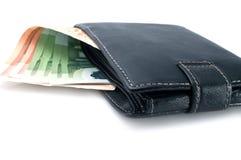 Bolsa e dinheiro Foto de Stock