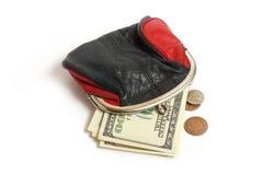 Bolsa e dinheiro Imagem de Stock