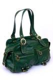 Bolsa elegante de couro verde Fotos de Stock Royalty Free