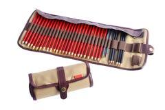 Bolsa en espiral y separada con los lápices Imagen de archivo