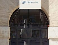 Bolsa italiana Imágenes de archivo libres de regalías