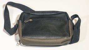 Bolsa masculina de couro isolada no fundo branco Fotos de Stock