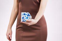 Bolsa nas mãos Imagens de Stock