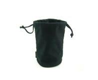 Bolsa negra del terciopelo fotografía de archivo libre de regalías