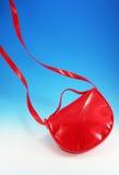 Bolsa ocasional vermelha Foto de Stock Royalty Free