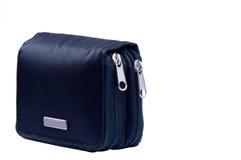 Bolsa preta com zippers Fotos de Stock