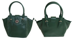 Bolsa verde Foto de Stock Royalty Free
