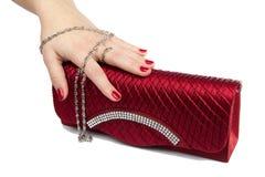 Bolsa vermelha Fotografia de Stock Royalty Free