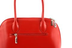 Bolsa vermelha agradável Fotografia de Stock