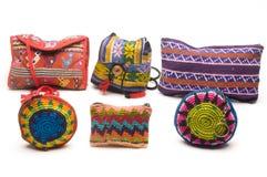 Bolsas coloridas América Central das bolsas Fotos de Stock Royalty Free