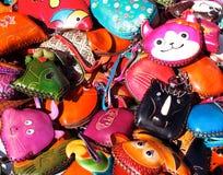 Bolsas coloridas da mudança Foto de Stock Royalty Free