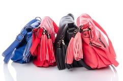 Bolsas coloridas diferentes Foto de Stock Royalty Free