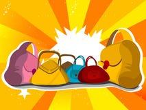 Bolsas com sun-burst Fotos de Stock