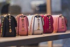 Bolsas da mulher Foto de Stock Royalty Free