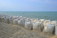 Bolsas de arena Imagen de archivo libre de regalías