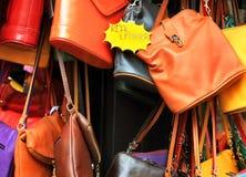 Bolsas de couro Fotografia de Stock