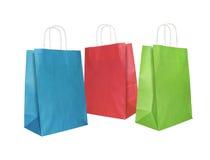 Bolsas de papel Imagen de archivo libre de regalías