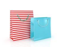 Bolsas de papel coloridas para hacer compras Fotografía de archivo