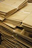 Bolsas de papel de Brown Imagen de archivo libre de regalías