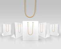 Bolsas de papel en blanco del portador Imagenes de archivo