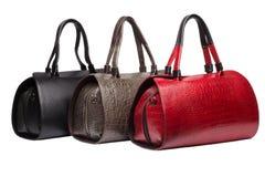 Bolsas fêmeas de couro naturais Fotos de Stock