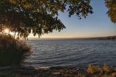 Bolsena湖 免版税库存图片