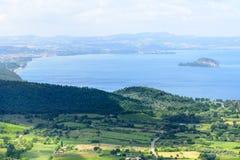Bolsena lake from Montefiascone Royalty Free Stock Image