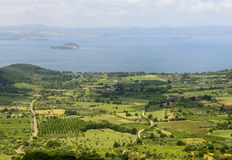 Bolsena lake from Montefiascone Stock Photos
