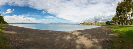Bolsena lake - View from Capodimonte Royalty Free Stock Images