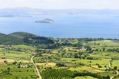 Bolsena sjö från Montefiascone Royaltyfri Bild