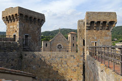 Bolsena (Viterbo, Lazio, Italy): the medieval castle Stock Photography
