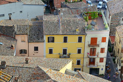 Bolsena (Viterbo, Lazio, Italy): typical tiled roofs of the old Stock Image