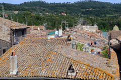 Bolsena (Viterbo, Lazio, Italy): typical tiled roofs of the old Stock Photo