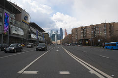 Bolshaya Dorogomilovskaya,莫斯科,俄国联邦城市,俄罗斯联邦,俄罗斯 免版税库存图片
