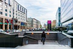Bolshaya Gruzinskaya街道 库存图片