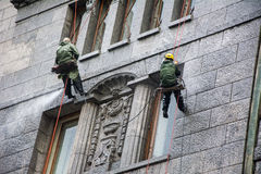 Bolshaya Morskaya St的巨型` s房子幻觉博物馆 免版税库存图片