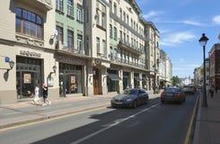 Bolshaya Nikitskaya Street in Moscow Stock Photos