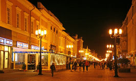 Bolshaya Pokrovskaya street in September Stock Photography