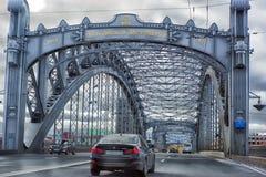 Bolsheohtinskij bridge, St. Petersburg, Russia. Stock Photography