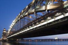 bolsheohtinskiy γέφυρα Πετρούπολη ST Στοκ φωτογραφίες με δικαίωμα ελεύθερης χρήσης