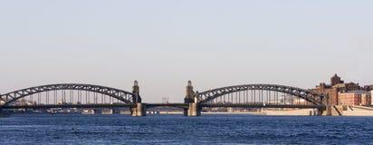 bolsheohtinsky γέφυρα στοκ εικόνα με δικαίωμα ελεύθερης χρήσης