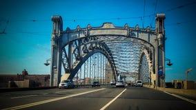 Bolsheokhtinsky Brücke Stockbilder