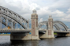 Bolsheokhtinsky Bridge Royalty Free Stock Photos