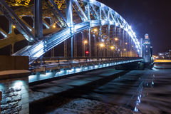 Bolsheokhtinsky bridge, Saint Petersburg, Russia Stock Photo