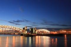 Bolsheokhtinsky Bridge, St. Petersburg, Russia Stock Photography